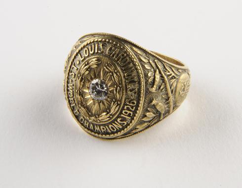Grover Cleveland Alexander's 1926 Championship ring. B-342.72 (Milo Stewart, Jr. / National Baseball Hall of Fame Library)