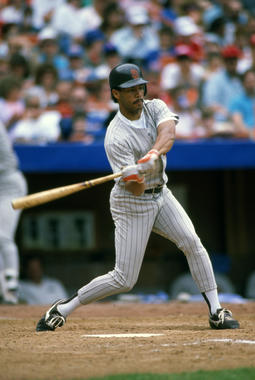 San Diego Padres' Roberto Alomar batting in a game in 1989 - BL-10169-94 (Michael Ponzini/National Baseball Hall of Fame Library)