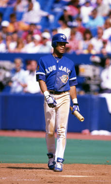 Toronto Blue Jays' Roberto Alomar walking to the plate to bat, 1994 - BL-10163-94 (Michael Ponzini/National Baseball Hall of Fame Library)