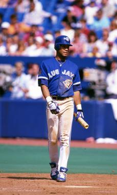 Toronto Blue Jays' Roberto Alomar walking to the plate to bat, 1994 - BL-10163-94 (Michael Ponzini/National Baseball Hall of Fame Library)