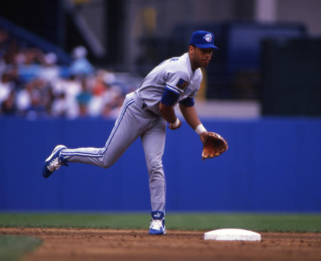 Roberto Alomar playing second base for the Toronto Blue Jays, 1994 - BL-10159-94 (Michael Ponzini/National Baseball Hall of Fame Library)
