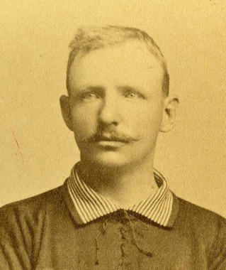 Chicago Cubs team portrait of Cap Anson, 1885. BL-1885-154-59 (National Baseball Hall of Fame Library)
