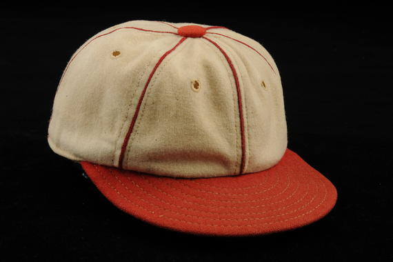 Cap worn by St. Louis Cardinals' pitcher Dizzy Dean 1934 when he went 30-7 earning MVP honors - B 243 53  (Milo Stewart Jr./National Baseball Hall of Fame Library)