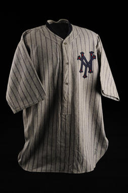 New York Giants 1924 World Series uniform shirt issued to John McGraw - B-59-78 (Milo Stewart Jr./National Baseball Hall of Fame Library)