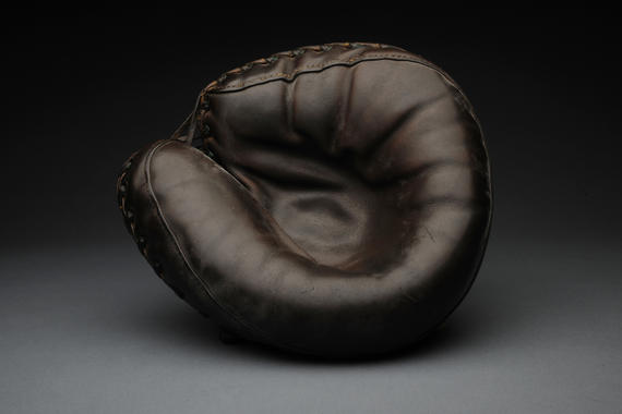 Catcher's mitt used by Mickey Cochrane - B-438-66 (Milo Stewart Jr./National Baseball Hall of Fame Library)