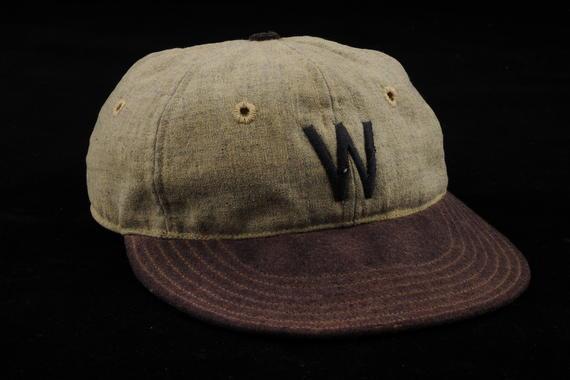 Cap worn by Walter Johnson of the Washington Senators - B-215-39 (Milo Stewart Jr./National Baseball Hall of Fame Library)