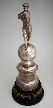Silver trophy awarded to Chuck Klein, of the Philadelphia Phillies, for being the 1932 National League MVP - B-62-80 (Milo Stewart Jr./National Baseball Hall of Fame Library)