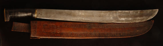 Machete used by Ban Johnson on hunting trips with Charles Comiskey - B-508-70 (Milo Stewart Jr./National Baseball Hall of Fame Library)