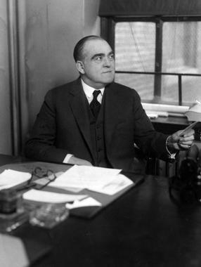 Ed Barrow at his desk, c. 1928 - BL-1459-68 (National Baseball Hall of Fame Library)