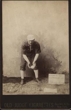 Jake Beckley, St. Louis, 1888 Old Judge cabinet card - BL-5-48 (National Baseball Hall of Fame Library)
