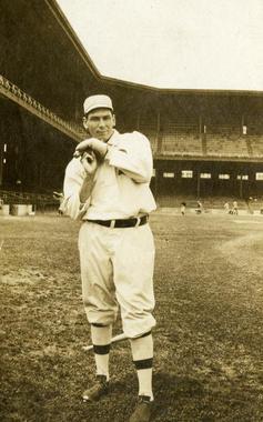 Chief Bender, Philadelphia Athletics, in Shibe Park c. 1910 - BL-1253-70 (National Baseball Hall of Fame Library)