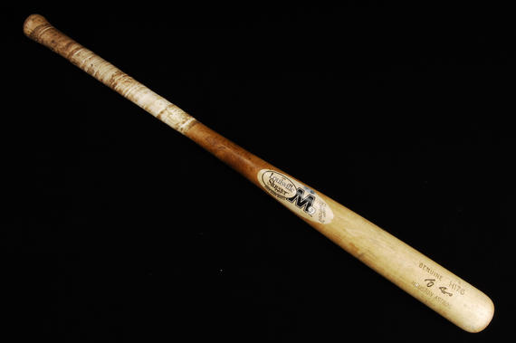 Craig Biggio recorded his 3,000th career hit on June 28, 2007. A bat that Biggio used during that game against the Rockies is now a part of the Museum's collection. (Milo Stewart Jr./National Baseball Hall of Fame)