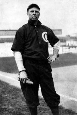 Mordecai Brown, Chicago Cubs - BL-4715-89 (National Baseball Hall of Fame Library)