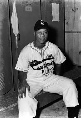 Willard Brown, in the Puerto Rican Winter League with the Santurce Cangrejeros, 1950 - BL-7576-71 (National Baseball Hall of Fame Library)
