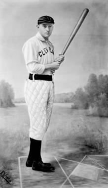 Jesse Burkett in the uniform of the Cleveland Spiders where he played from 1891 through 1898 - BL-5667-85 (National Baseball Hall of Fame Library)
