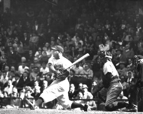 Roy Campanella batting for the Brooklyn Dodgers - BL-6250-88 (National Baseball Hall of Fame Library)