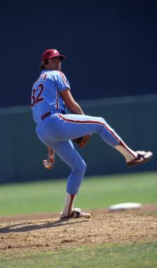 Steve Carlton of the Philadelphia Phillies. BL-3701-84 (Anthony Neste / National Baseball Hall of Fame Library)