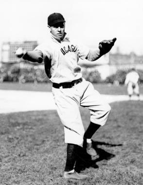 First baseman Frank Chance throwing a baseball. BL-5981.88