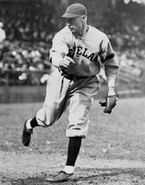 Stan Coveleski, shown as a member of the Cleveland Indians - BL-10159-89 (National Baseball Hall of Fame Library)