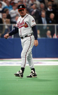 Atlanta Braves manager Bobby Cox during the World Series, Oct 22, 1992 - BL-380-2005 (National Baseball Hall of Fame Library)