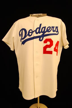 Los Angeles Dodgers 1983 home uniform shirt, #24 Alston - B-238.83  (Milo Stewart Jr./National Baseball Hall of Fame Library)