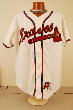 Uniform jersey worn by manager Bobby Cox during the 1999 season - B-418.99  (National Baseball Hall of Fame Library)