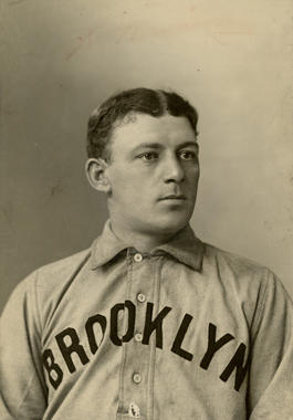 """A portrait of William """"Bill"""" Dahlen of the Brooklyn Superbas, circa 1903. BL-1859.68WTb (National Baseball Hall of Fame Library)"""