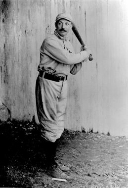 George Davis, shown as a member of the New York Giants - BL-4025-99 (National Baseball Hall of Fame Library)
