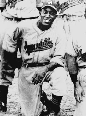 Leon Day, shown as a member of the Aguadilla Sharks of the Puerto Rican Winter League -  BL-5061-95 (National Baseball Hall of Fame Library)