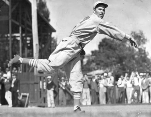Dizzy Dean, shown as a member of the St. Louis Cardinals - BL-1457-68 (National Baseball Hall of Fame Library)
