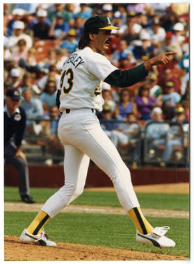 Dennis Eckersley, Oakland A's - 045 (Doug McWilliams/National Baseball Hall of Fame Library)
