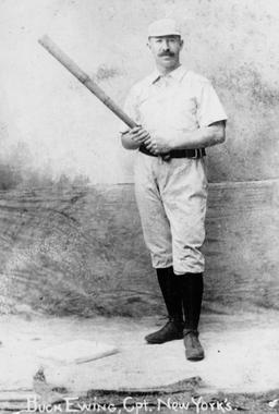 Buck Ewing, shown as a member of the New York Giants - BL-325-63 (National Baseball Hall of Fame Library)