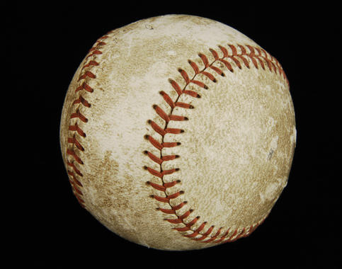 Game-used ball from Bob Feller's Opening Day no-hitter, April 16, 1940. B-25.50 (Milo Stewart, Jr. / National Baseball Hall of Fame)