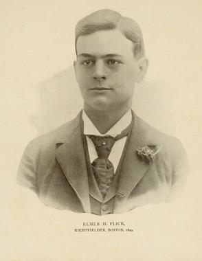 Elmer Flick, right fielder, Boston, National League, 1899 - BL-257-52 (National Baseball Hall of Fame Library)