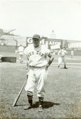 Jimmie Foxx of the Boston Red Sox at Fenway Park, 1936. B-4719-73-8 (National Baseball Hall of Fame Library)