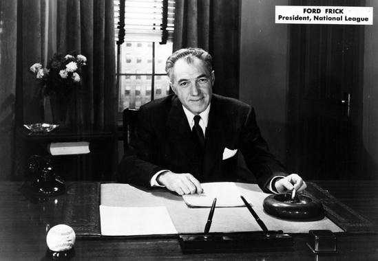 Ford Frick in his office when he was president of the National League (1934 to 1947) - BL-119-58 (National Baseball Hall of Fame Library)