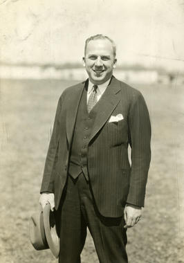 Warren Giles during first training camp as president of the International League Rochester Red Wings, 1928 - BL-3796-71 (National Baseball Hall of Fame Library)