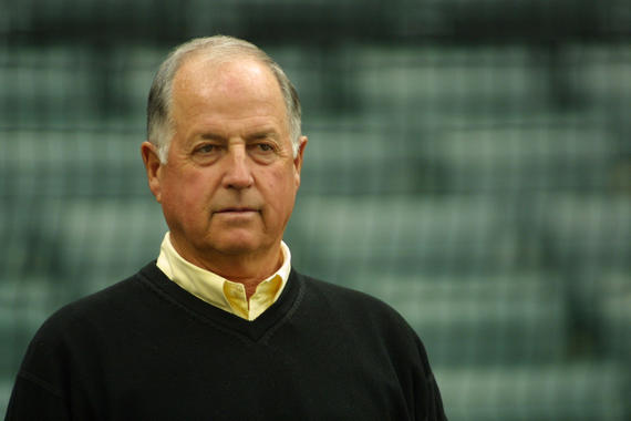 Pat Gillick in 2002, when he was General Manager of the Seattle Mariners - BL-221-2011 (Ben Van Houten/National Baseball Hall of Fame Library)
