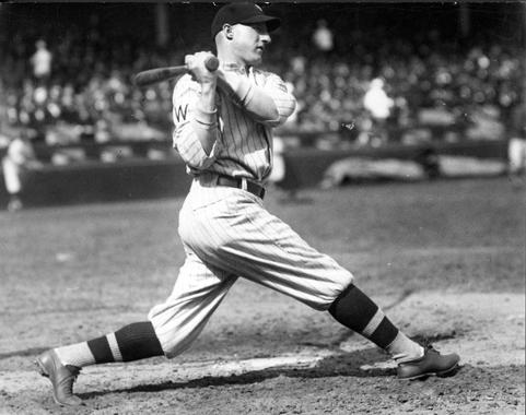 Goose Goslin of the Washington Senators, c. 1922 - BL-1518-68 (Charles Conlon/National Baseball Hall of Fame Library)