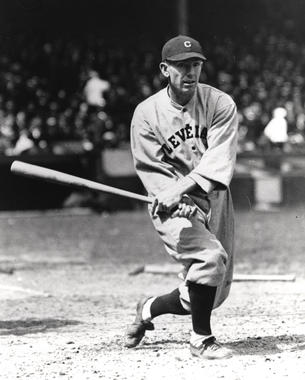 Jack Graney of the Cleveland Indians posed batting. BL-1091.88 (National Baseball Hall of Fame Library)
