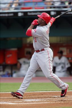 On June 9, 2008, Ken Griffey Jr. hit his 600th career home run off Florida Marlins pitcher Mark Hendrickson. (National Baseball Hall of Fame Library)