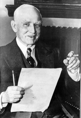 Clark Griffith, owner of the Washington Senators - BL-167-68 (National Baseball Hall of Fame Library)