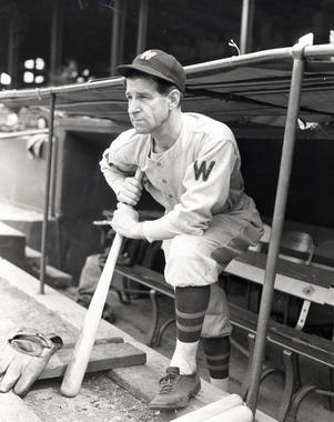 Hall of Famer Bucky Harris drove in the lone run in support of Walter Johnson's no-hitter on July 1, 1920. Harris would later guide the Senators to their only World Series championship in 1924 as a player-manager at the age of 27. He was elected to the Hall as a manager in 1975. BL-250-71a (National Baseball Hall of Fame Library)
