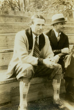 Harry Heilmann and Frank O'Rourke of the Milwaukee Brewers photographed during 1933 spring training in Hot Springs, AK. BL-4715.73.25 (National Baseball Hall of Fame Library)
