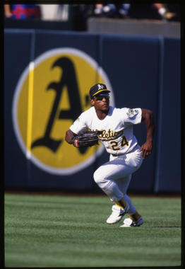 Rickey Henderson of the Oakland Athletics - BL-7-2013 (Ron Vesely/National Baseball Hall of Fame Library)