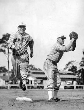 Rogers Hornsby at New York Giants spring training, 1927 - BL-1497-68 (National Baseball Hall of Fame Library)