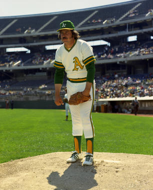 Jim 'Catfish' Hunter, Oakland A's, 1973 - BL-73-12 (Doug McWilliams/National Baseball Hall of Fame Library)