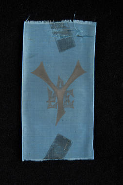 A Yale baseball club silk ribbon given to George Wright. B-403.2009 (Milo Stewart, Jr. / National Baseball Hall of Fame)