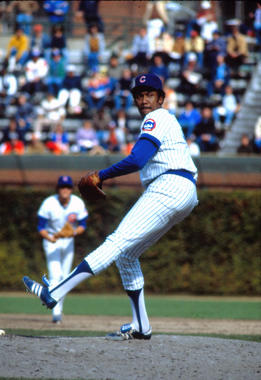 Fergie Jenkins of the Chicago Cubs pitching - BL-135-2005 (National Baseball Hall of Fame Library)