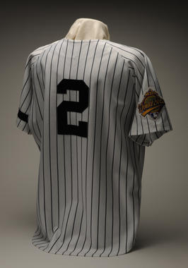 Derek Jeter's New York Yankees Jersey from the 1996 World Series.- B-318-96 (Milo Stewart Jr./National Baseball Hall of Fame Library)